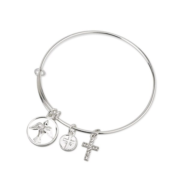 Silver Plated Confirmation Bracelet with Charms