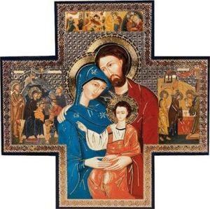 Holy Family Cross Icon