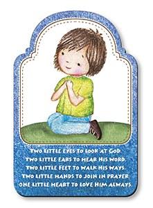 Praying Boy Wood Plaque