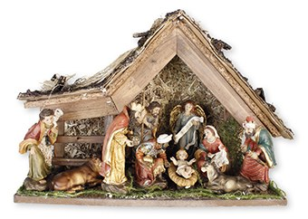 A Child is Born  Fixed Nativity with shelter