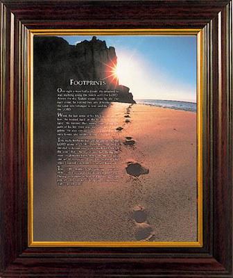 Framed Footprints Picture (30 x 25cm)