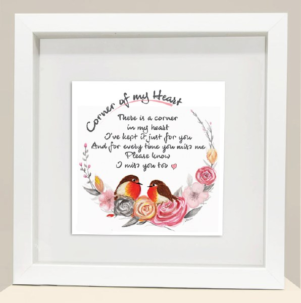 CH001 Miss You Corner of My Heart Robin Frame