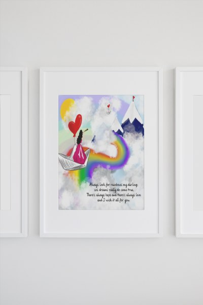 INSP003 Look For Rainbows Framed print