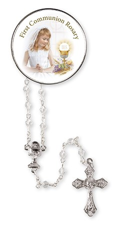 Girl First Holy Communion  Rosary Beads