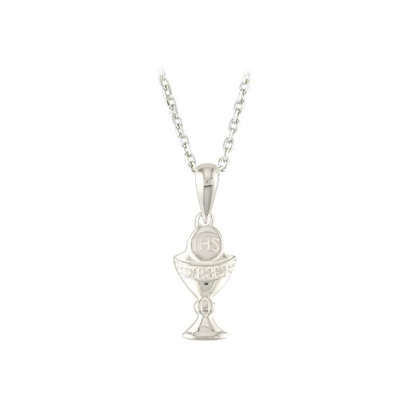 Sterling Silver First Holy Communion Chalice Necklace