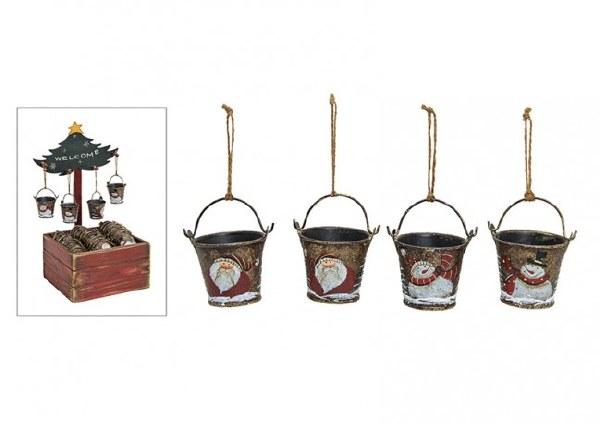 Christmas Bucket Decorations assorted