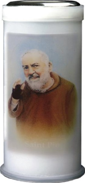 Padre Pio Pillar Candle