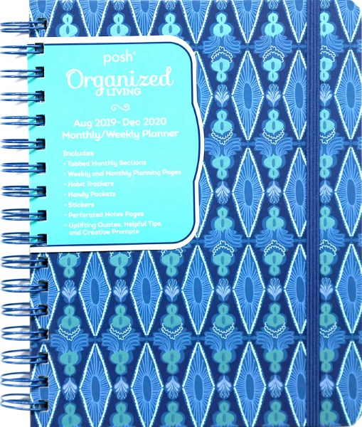 Posh: Organized Living 2019-2020 Monthly/Weekly Planning Calendar: Blue Lagoon