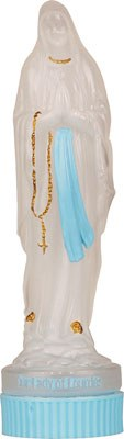 Lourdes Statue Holy Water Bottle