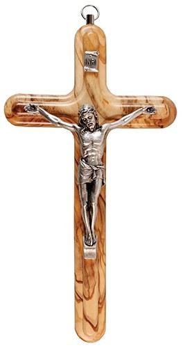 Olive Wood Crucifix (17cm)
