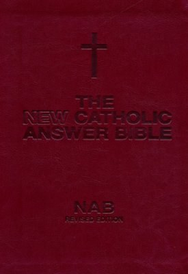 New Catholic Answer Bible, Burgundy leather, gilt