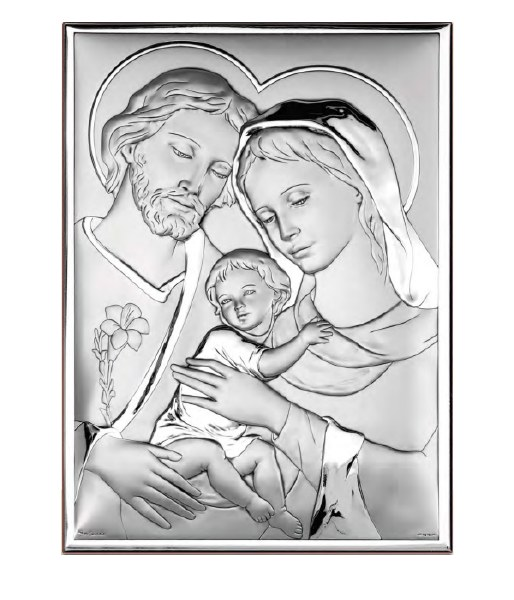 Holy Family Silver Icon (18 x 13cm)