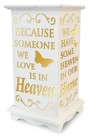 Heaven in our Home LED Wood Lantern for graves