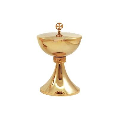 Gold Plated Ciborium (20cm x 12cm Diameter)