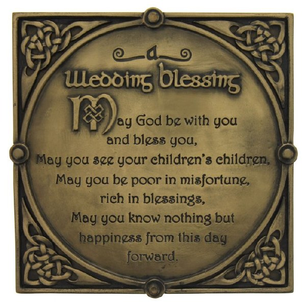 Irish Wedding Bronze Plaque