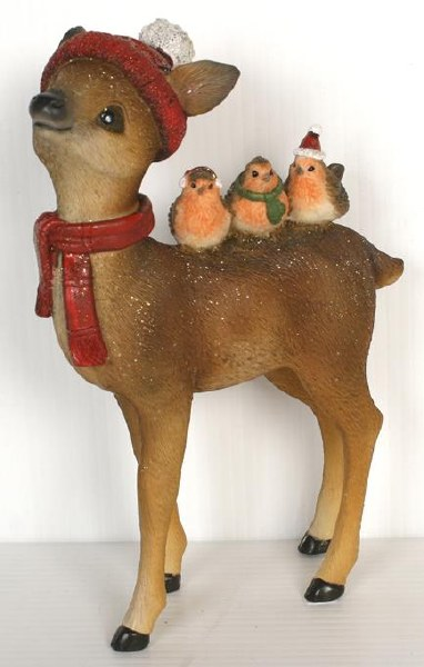 Christmas Robins and Deer (18cm)