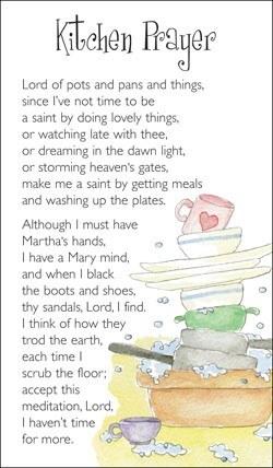 Kitchen Prayer Card