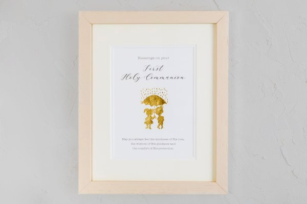 A Special Day Gold  First Holy Communion Frame