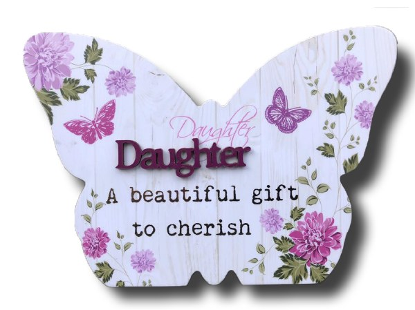 Daughter Blooms Butterfly Plaque