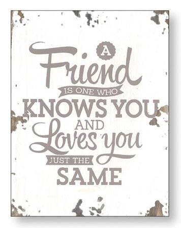 A Friend Wood Plaque