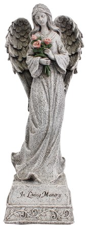 TOS 48408 In Loving Memory Angel Grave Statue