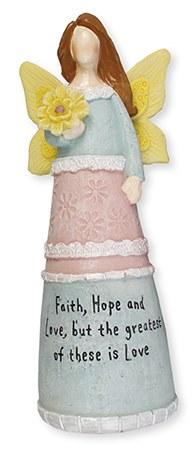 3942 Faith Hope and Love Message Angel 15cm