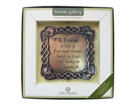 A Friend Bronze Wall Plaque
