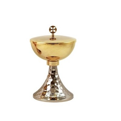 Gold and Silver Plated Ciborium (19cm x 11.5cm Diameter)