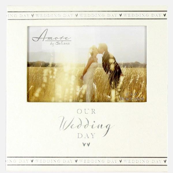 Amore Pearlised Wedding Day Photo Frame