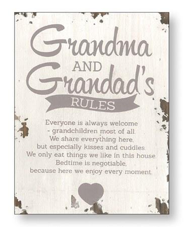 Grandma and Grandad Wood Plaque