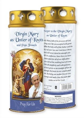 Our Lady Untier of Knots Windproof Candle