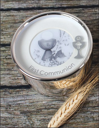 Silverplated First Holy Communion Keepsake