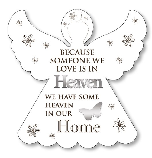 Heaven in our home wooden Angel Plaque