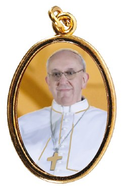 Pope Francis Medal gold Finish