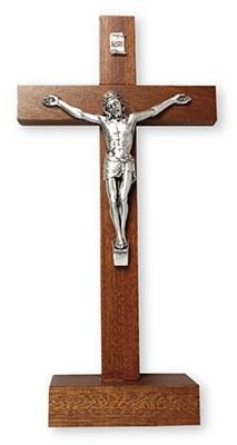 Mahogany Standing Crucifix (21cm)