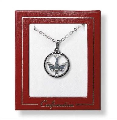 Nickel Silver Dove in Circle
