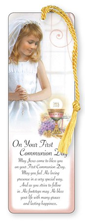 Girl  First Holy Communion  Bookmark