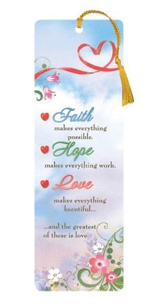 Faith, Hope and Love Bookmark