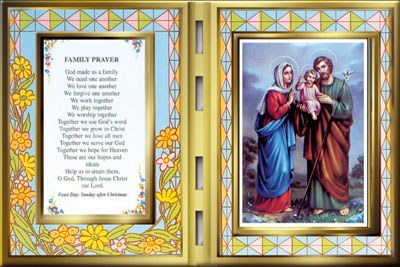 Holy Family Glass plaque