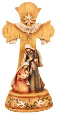 Holy Family Nativity Cross (25cm)