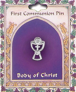 First Holy Communion Chalice Brooch