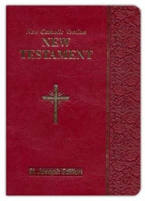 Saint Joseph NCV New Testament, burgundy
