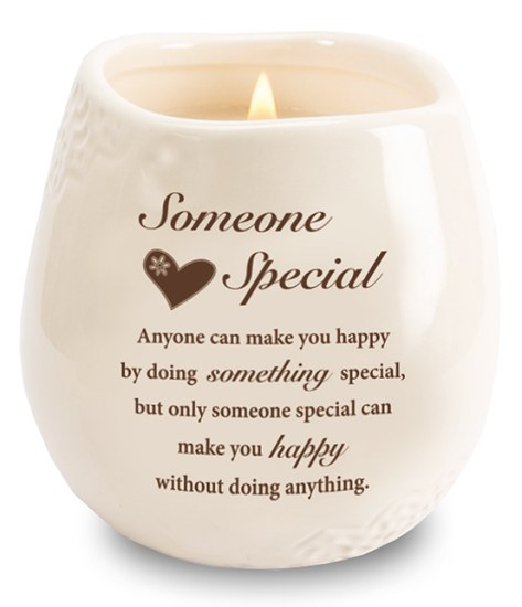 Stoneware Jar with Soy Wax Candle and message Someone Special