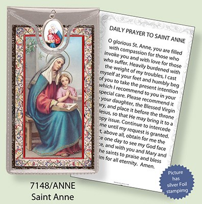 St Anne Prayercard and Medal
