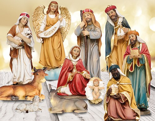 11 Piece Traditional Nativity Set (25cm)