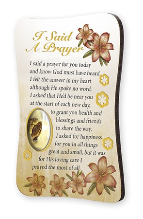 I Said A Prayer Wood Plaque Magnet