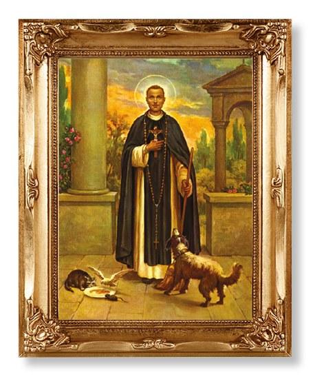 St Martin Gold Framed Print (30 x 26cm)
