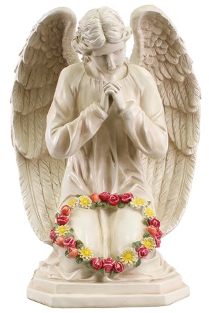 48576 Praying Flower Angel Grave Statue 60cm