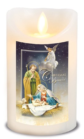 Christmas Blessings  LED Candle