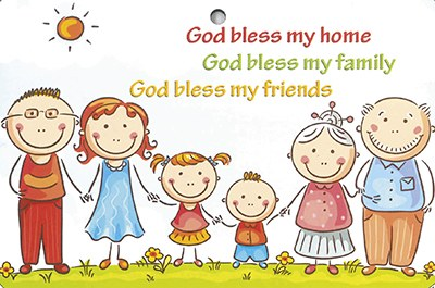 God Bless My Home Wooden Plaque